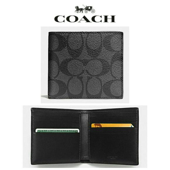 2e5fd8a205a2 NEW Coach Double Billfold